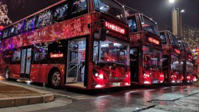 Photo of צי של 200 אוטובוסים חשמליים דו-קומתיים של חברת BYD הושק בשיאן, סין