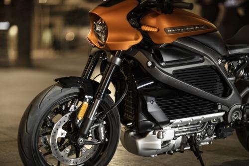 קדמת האופנוע של LiveWire