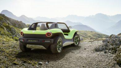 רכב הקונספט החדש של פולקסווגן ה - ID Buggy - ירוק בשטח