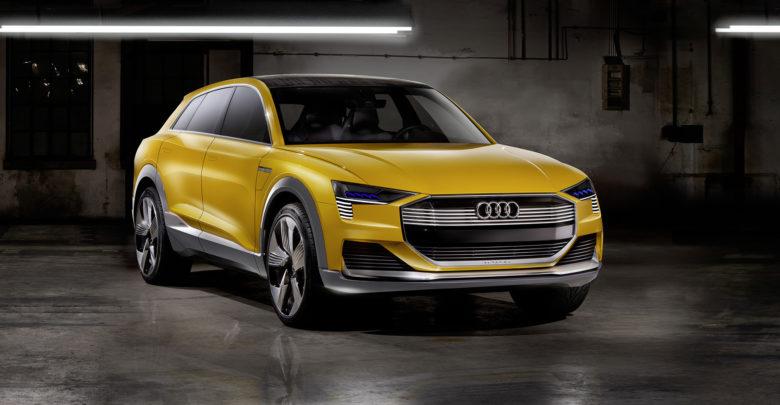 רכב של אאודי עם הנעה מבוססת תאי דלק, הרכב בצבע צהוב