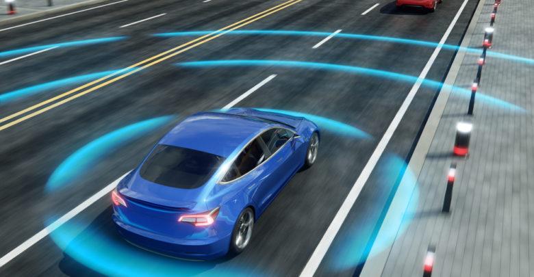 הדמיה של רכב אוטונומי בכביש