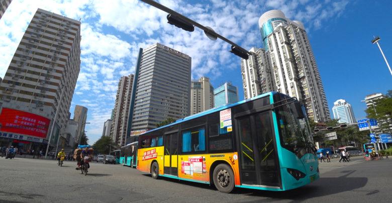 אוטובוס חשמלי בשנג'ן שבסין
