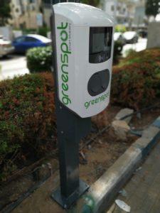 עמדת טעינה של רכב חשמלי של Greenspot