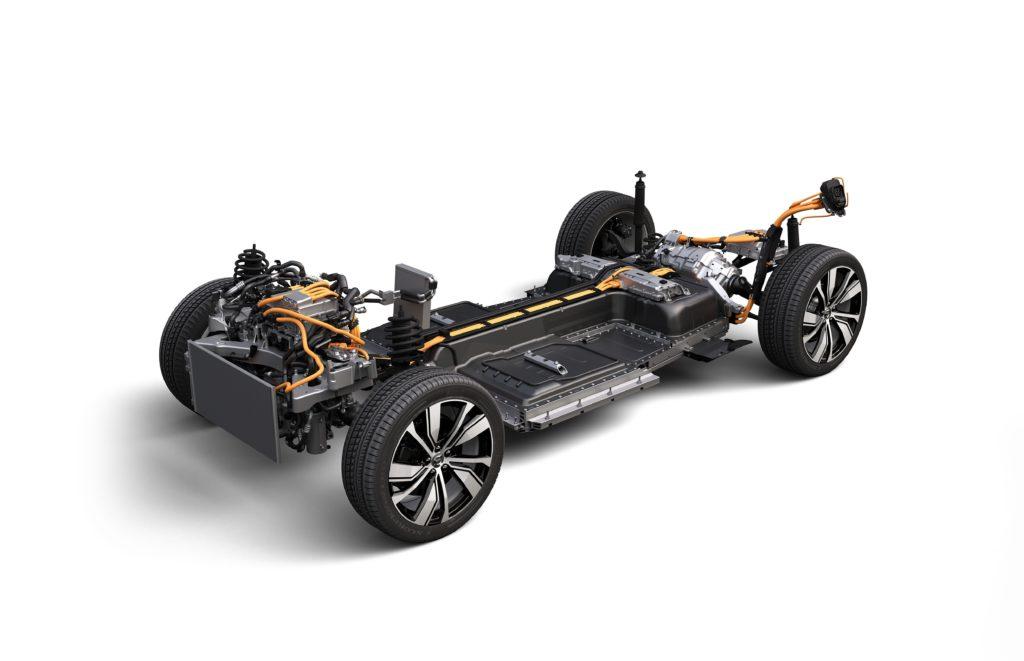 מרכב (תחתית) הרכב של הוולוו XC40 Recharge