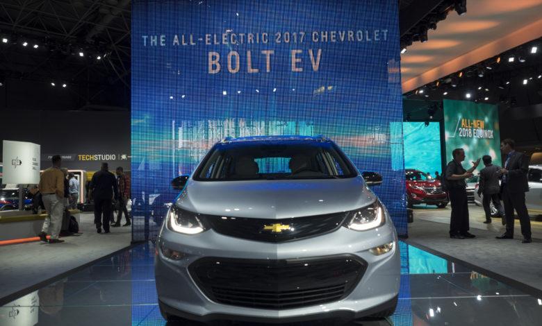 שברולט בולט חשמלית בתערוכת הרכב בניו יורק ב-2017
