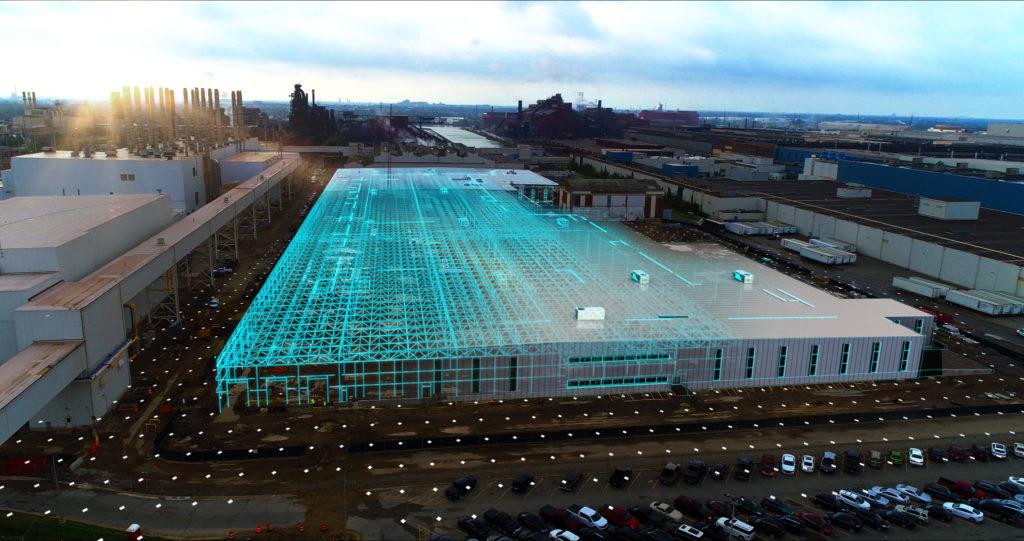 הדמיה ממוחשבת של המפעל החדש של פורד שיוקם במישיגן ארצות הברית