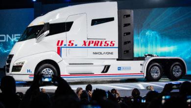 המשאית החשמלית Nikola One באירוע ההשקה