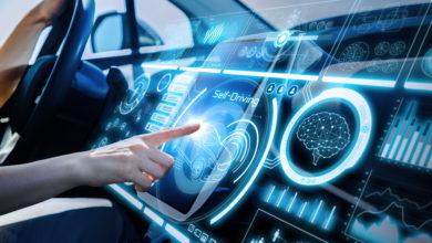 לוח מחוונים של רכב אוטונומי