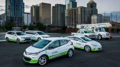 צי רכבים של חברת Duke Energy עם רכבים חשמליים כמו שברולט בולט