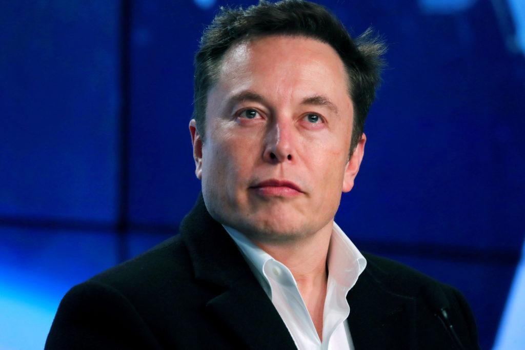 אילון מאסק, מנכ״ל טסלה, לאחר שיגור הפלקון 9 של SpaceX בועידה