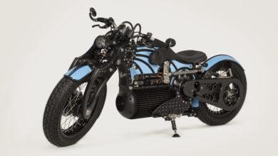 אופנוע חשמלי קרטיס One בצבע תכלת שחור