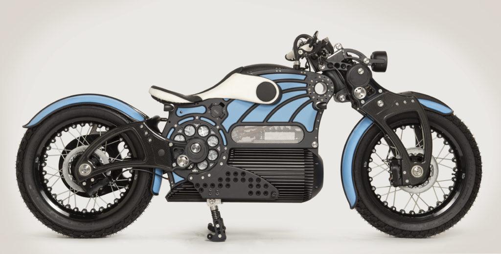 תמונת צד של האופנוע החשמלי של קרטיס