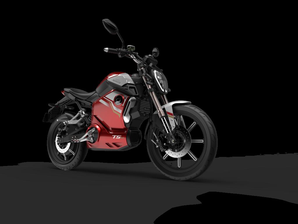 אופנוע חשמלי סופר סוקו TSX בצבע אדום