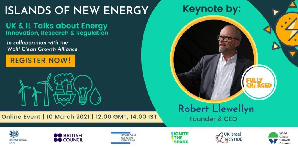 רוברט לוואלין דובר בכנס Islands of New Energy