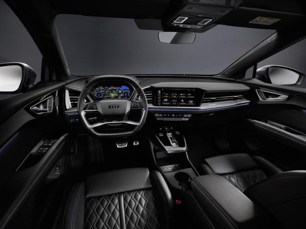 פנים הרכב של האאודי Q4 החשמלית החדשה