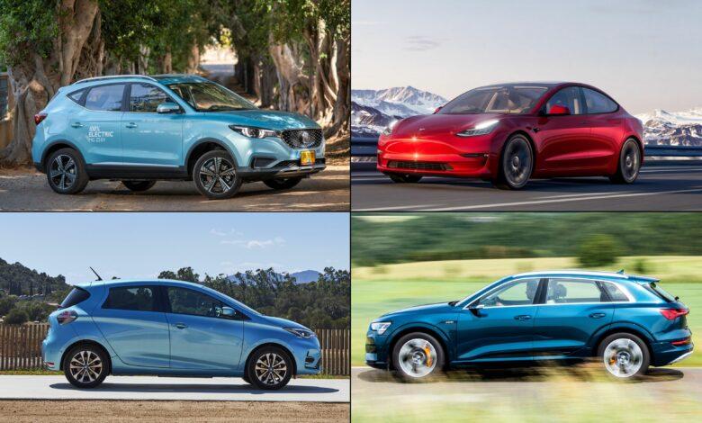 ארבעת הרכבים החשמליים הכי נמכרים בישראל - טסלה, MG, אאודי ורנו זואי