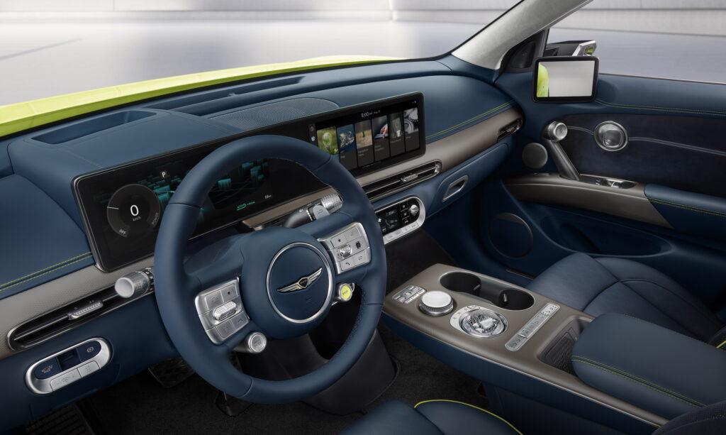 סביבת הנהג בג׳נסיס GV60