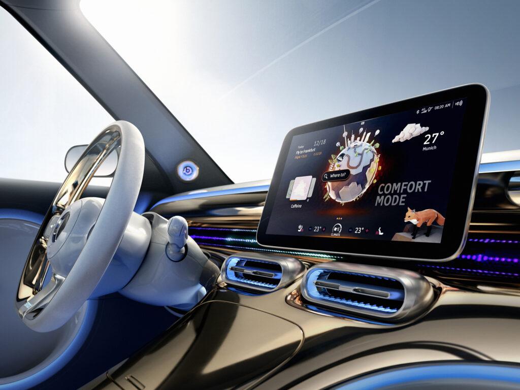סביבת הנהג בקרוסאובר החשמלי החדש של סמארט