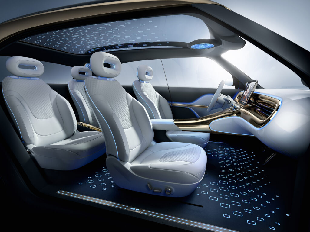 פנים הרכב של הסמארט Concept#1