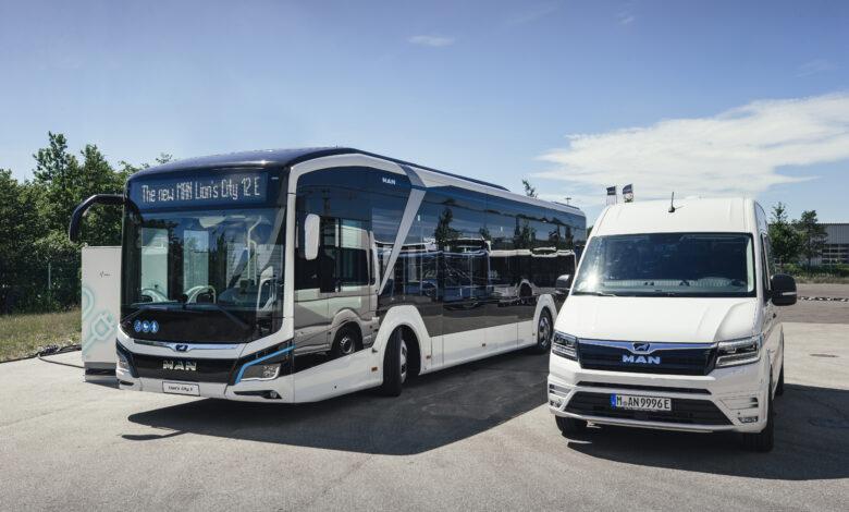 אוטובוס וואן חשמלי של חברת מאן